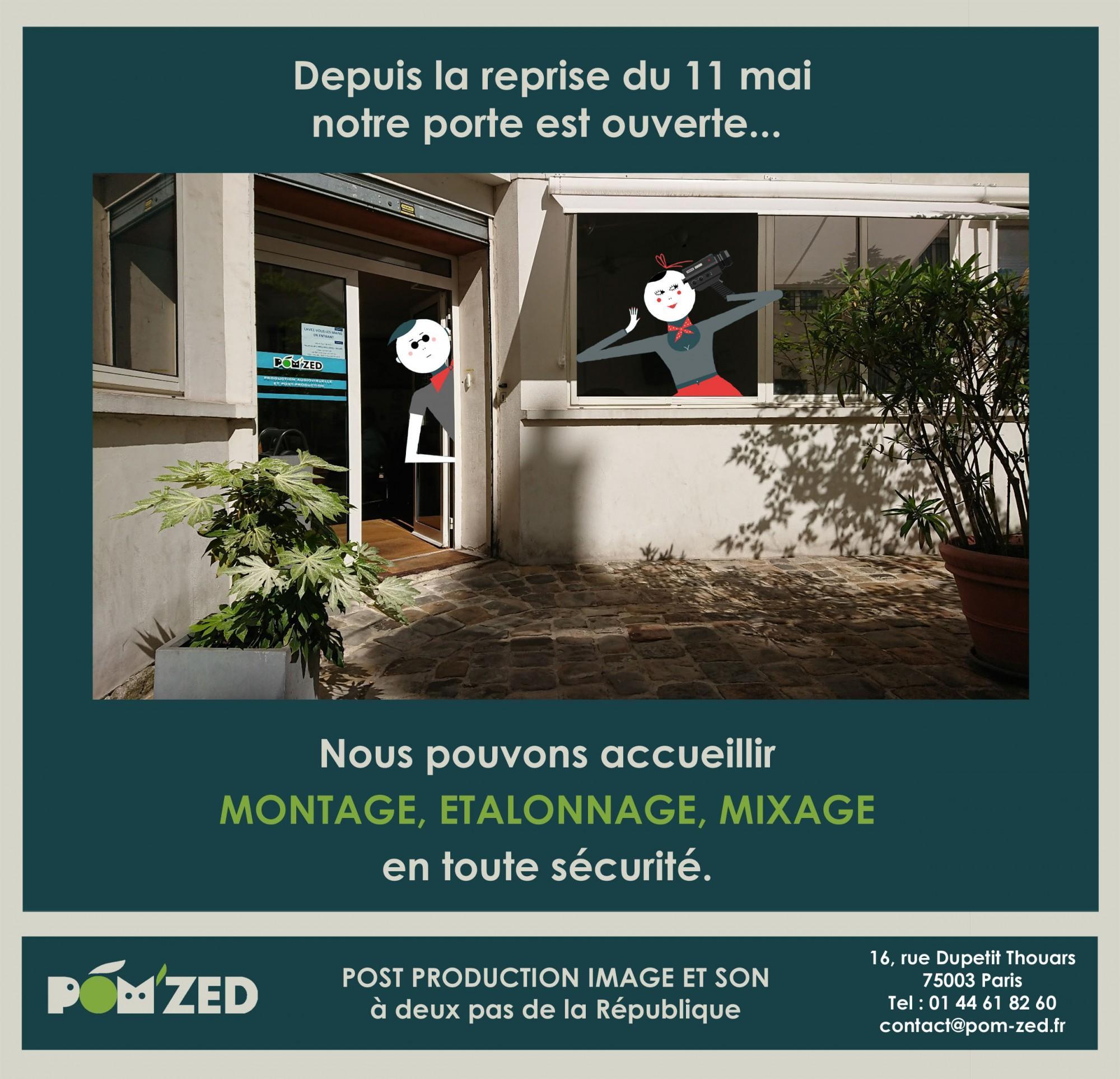 POM'ZED – Montage, mixage, étalonnage, labo.